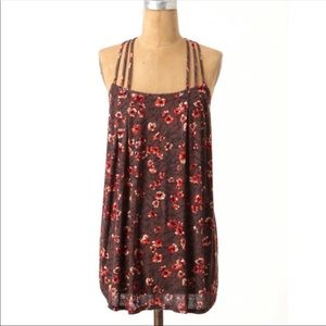 NEW Deletta Triple Strap Floral Tank Top Small